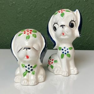 VINTAGE Japan Kitschy Dog Salt and Pepper Shakers